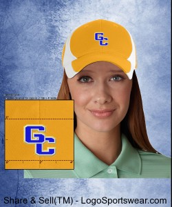 G-C Gold Dry Zone Baseball Cap Design Zoom