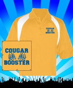 Cougar Booster Gold Reebok Wicking Polo Design Zoom