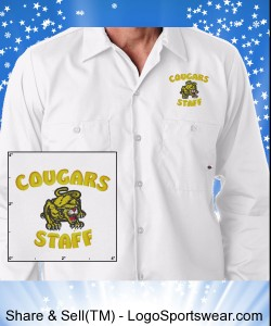 White Cougars Staff Dress Shirt Design Zoom