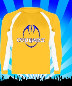Gold Longsleeve performance tshirt - football Design Zoom