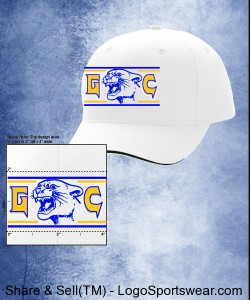 White G-C Basic Cougar Microfiber Baseball Hat Design Zoom