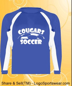Blue Longsleeve Cougars Soccer Shirt Design Zoom